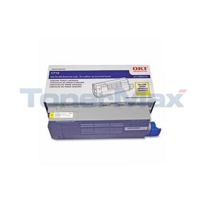 OKIDATA C710 SERIES TONER CARTRIDGE YELLOW